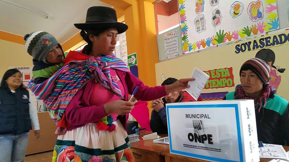 Participación de la población indígena en las elecciones