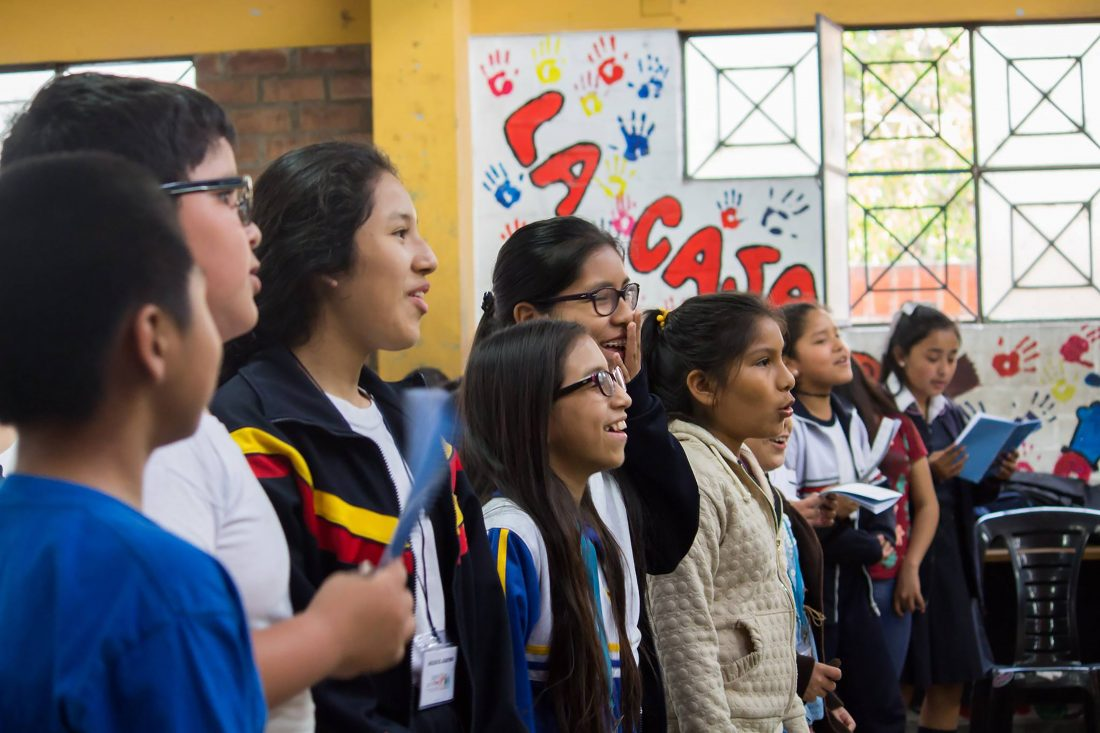 Núcleo El Agustino (Lima), promovido por Sinfonía por el Perú y Encuentros Servicio Jesuita de la Solidaridad